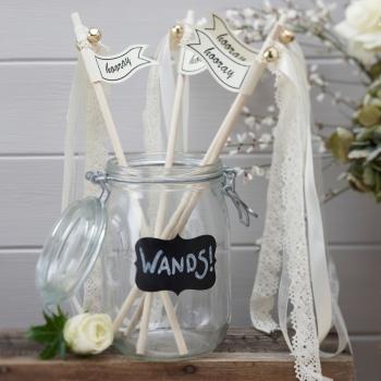 pickposh piekfeine dinge hochzeitsst be wedding wands vintage affair. Black Bedroom Furniture Sets. Home Design Ideas