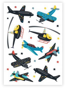 Tattoo Set - Flugzeuge