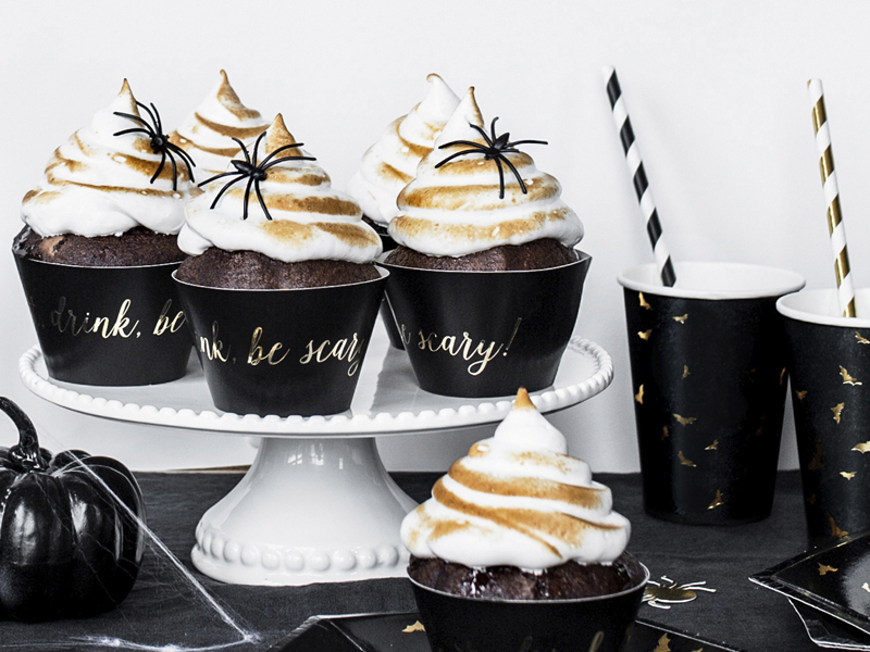 Pickposh Piekfeine Dinge Cupcake Wrapper Eat Drink Be Scary Halloween