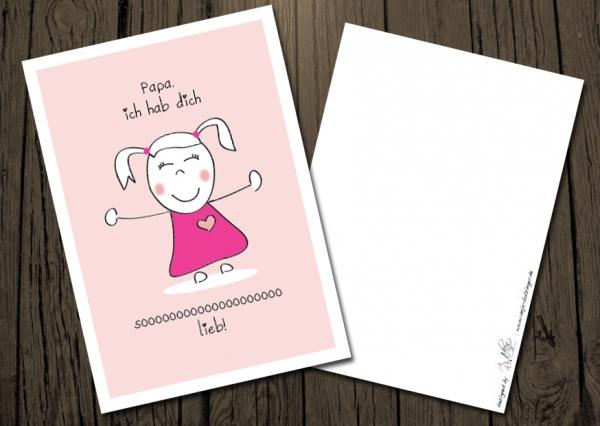 Pickposh Piekfeine Dinge Postkarte Vatertag Papa Ich Hab Dich